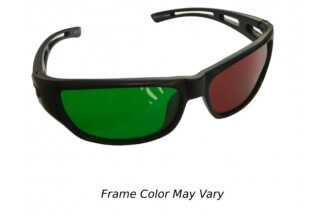 Reverse Wraparound Red/Green Glasses (Child Size)