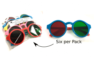Pediatric Red/Green Glasses (6 pack)