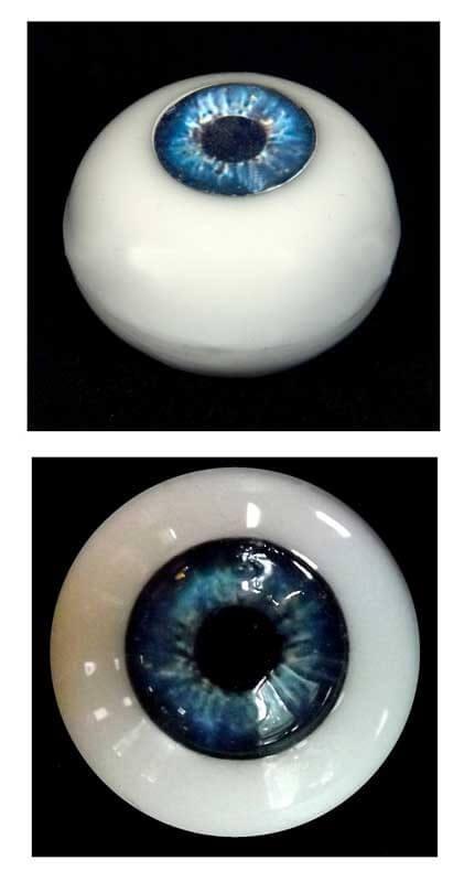 Silicone Human Eye Replica (Blue Iris)