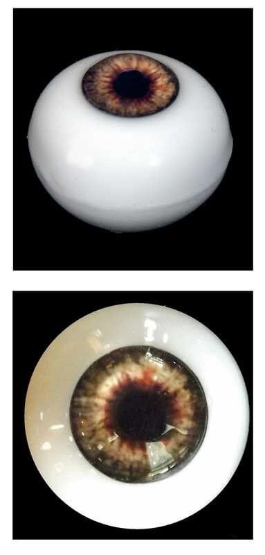 Silicone Human Eye Replica (Brown Iris)